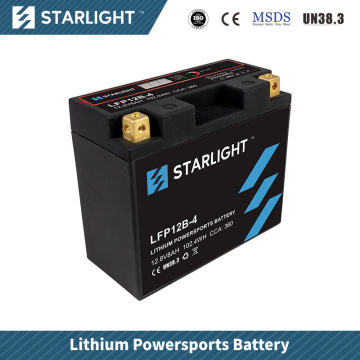 Batterie de moto au lithium LFP12B-4 / batterie de sports motorisés