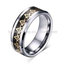 Винтажный логотип гравировка масонской кольцо, кольца щедрый масонские логотип мужской