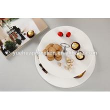 Weißes Porzellan 2-stöckige Kuchenständer für Hochzeit mit Griff