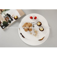 white porcelain 2 tier decoration cake stand for wedding with handle