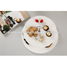 Белый фарфор 2 уровня украшение торта стенд для свадьбы с ручкой