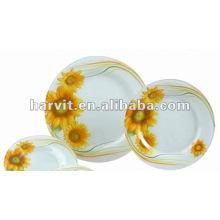 "12""Round Glass Dinner Plate"