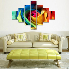 Pintura colorida moderna de la lona del grupo del Multi-Panel de la flor