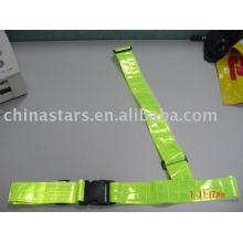 EN471 cinto de cintura reflexivo de segurança com fita de PVC