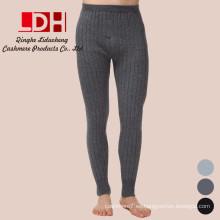 Pantalones de cachemira de los hombres Pantalones calientes de alta elástico sin costura Medias Pantalones de compresión de los hombres Pantalones de invierno de los hombres calientes