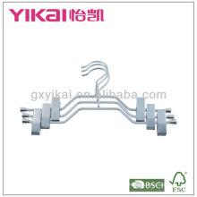 Набор из 3шт хромированных металлических вешалок с металлическими клипсами и стойкой для ремня