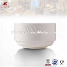 Crockery dinnerware white ceramic stackable personalized soup bowl