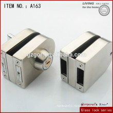 Widely used Office tempered frameless glass double door key lock