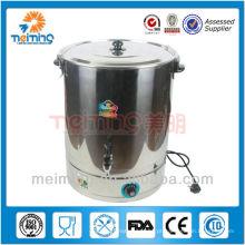 caldeira de água quente comercial de aço inoxidável, chaleira elétrica