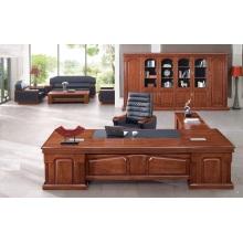 Bureau de bureau en noyer design avec meuble assorti