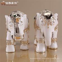 Thai white resin elephant home decoration for interior ornament wedding decoration