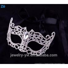 Оптовые хрустальные маски для вечеринок, маскарадные маски с камнем