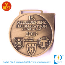 China Customized Copper Stamping 10 Km Marathon Medal with High Quality
