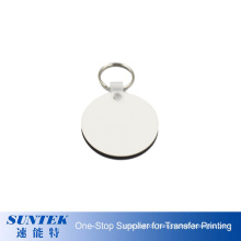 Factory Price 3mm Blank Sublimation MDF Keychain with Double Sides Printable Coating Round Shape