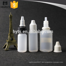 10 ml 30 ml leere runde PE e flüssigkeit flasche für e-liquid