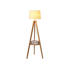 Brown Wooden Floor Lamp