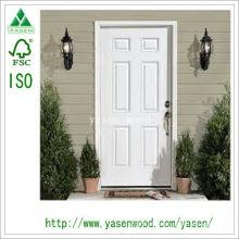 6 painéis personalizaram a porta de madeira interior branca