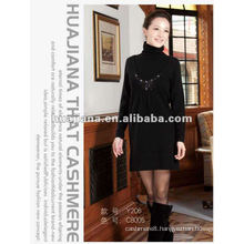 fashion ladies Cashmere knitting dresses for winter