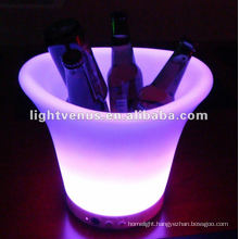 2012 Hot sale color change led flashing ice bucket