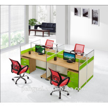 fashionable furniture with cabinet modern simple design office table durable cheap workstation