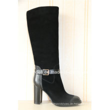 Europa Trendy Komfort High Heel Lady Leder Warm Stiefel