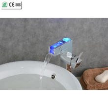 High Body Single Handle Waterfall Brass Basin Faucet (QH0615HAF)