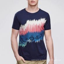 T-shirt à manches courtes pour hommes avec impression