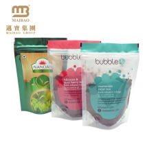 Factory Food Grade Custom Printing Transparent Clear Standup Pouch For Spice With Zipper