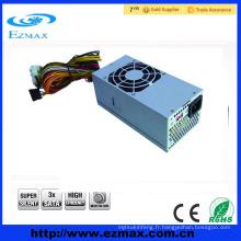 Vente chaude de prix le plus bas ATX 12V V2.3 Alimentation PC TFX 250 W avec 8cm silencieux Ventilateur