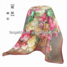 Cachecol de seda de impressão digital moda SC359-011