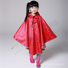 high visibility reflective printed waterproof poncho for children