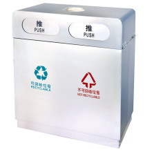 Caixote de lixo classificável em aço Stainess (DL44)
