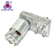 Motor de CC de alto par de 12 V con caja de engranajes de forma plana