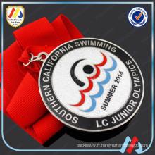 Médaille en argent de natation sportive