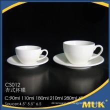eurohome good service sale hotel ceramic tea cup and saucer
