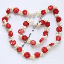 Gets.com 2015 red coral jewelry necklace sets