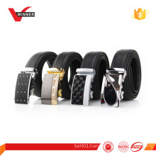 Black Automatic Buckle Genuine Leather belt