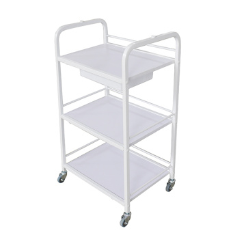 Salon Utility Cart Trolley weiß