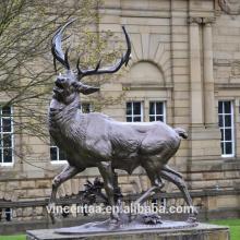 Best selling bronze garden deer sculpture life-size bronze deer