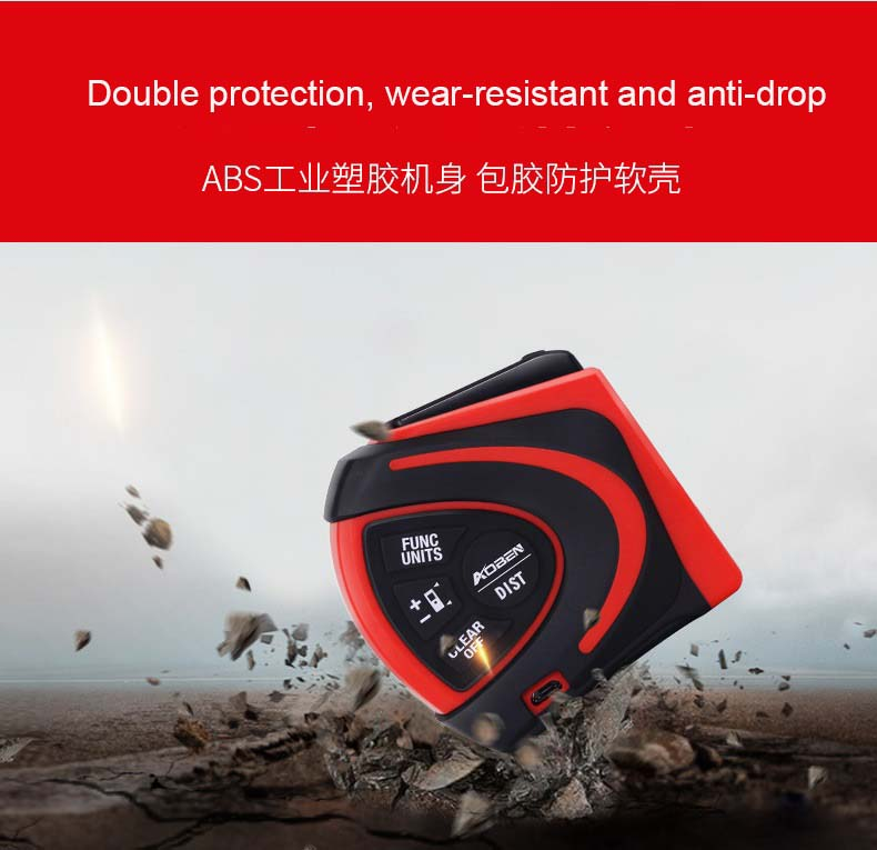 digital laser tape measure 2 in 1 5m tape measure 30m laser distance with Automatic lock function