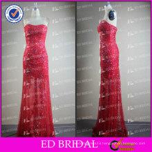 ED Bridal Elegant Sparkle Red Sheath Sweetheart Neckline Beads Alibaba Evening Dress 2017