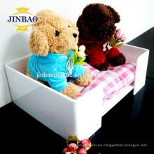 Jinbao personalizar tamaño de plexiglás reloj de juguete acrílico pantalla 10x10 cm