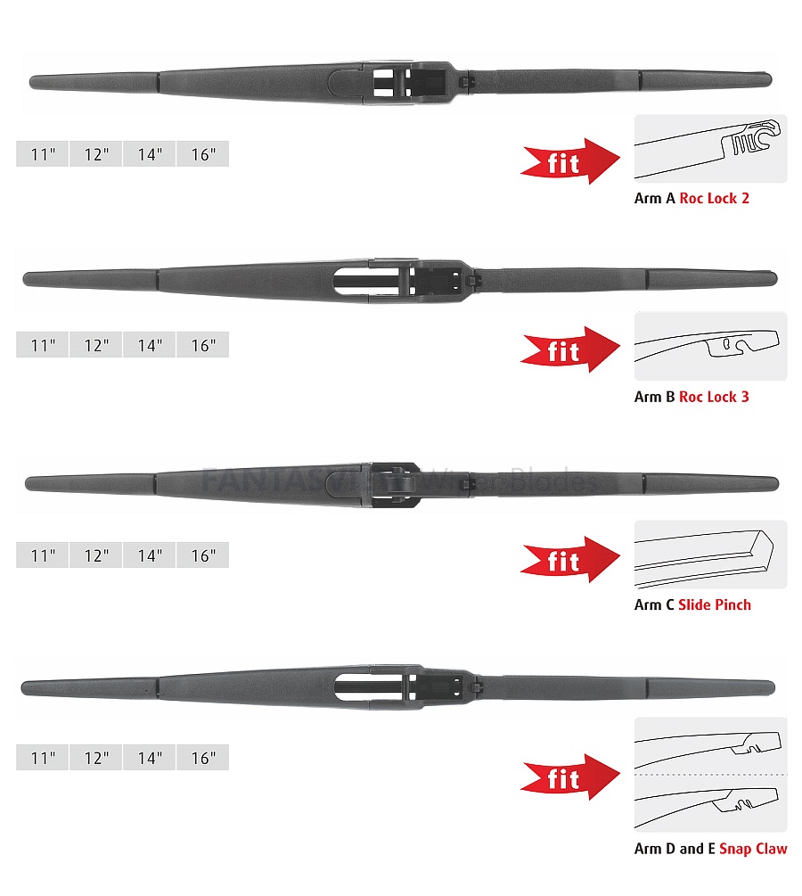 Multi-Clip Rear Wiper Blades