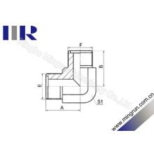 Macho hidráulico métrico do adaptador do O-Anel do cotovelo de 90 graus (1E9)