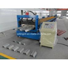 Máquina formadora de rollos de piso acristalado de acero