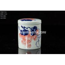 Grape Painting Tea Canister, Straight, 50g Tea