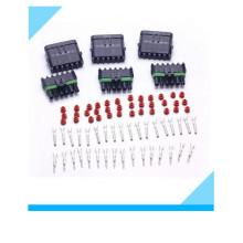 Conector de cabo de fio elétrico impermeável de 6 pinos