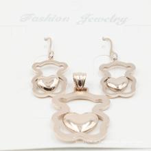 Elegante imitação de aço inoxidável jóias set