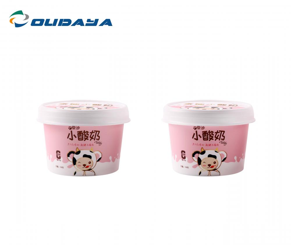 150ml yogurt cup with lid and spoon