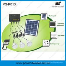 Kit solaire d'ampoules du panneau 3PCS 1W SMD LED de 4W avec la fonction de chargeur de téléphone